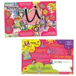 Direct Mail Design | Postcard Design | double sided mailer for UGOGRL Activity Collectible Trading Cards