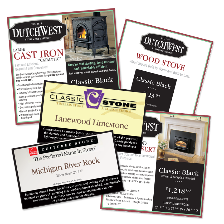 In Store Signage | Myers Fireplace and Patio | Toledo, Ohio